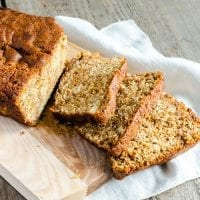 healthy kids party food banana bread